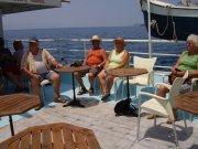 Mit dem Boot durch den Kanal von Korinth