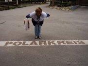 Margot überspringt den Polarkreis (Rovaniemi)