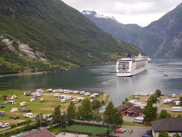Campingplatz im Geirangerfjord